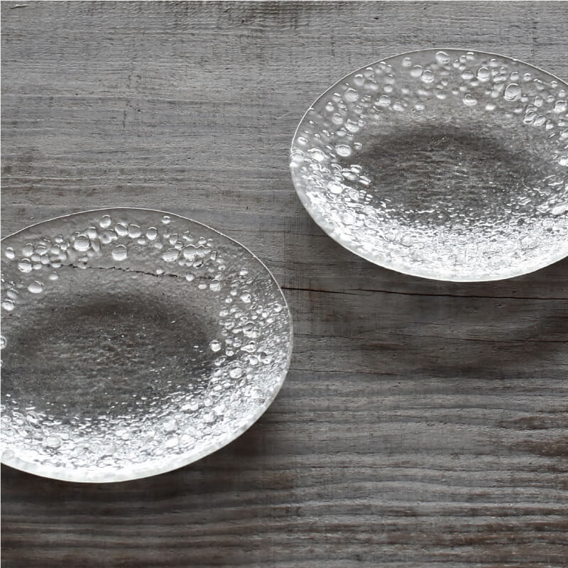 ガラスの小皿2枚組